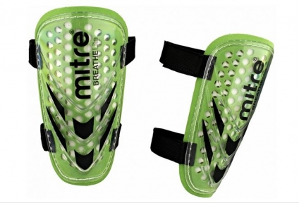Щитки футбольні MITRE Tension BreatheLite Slip